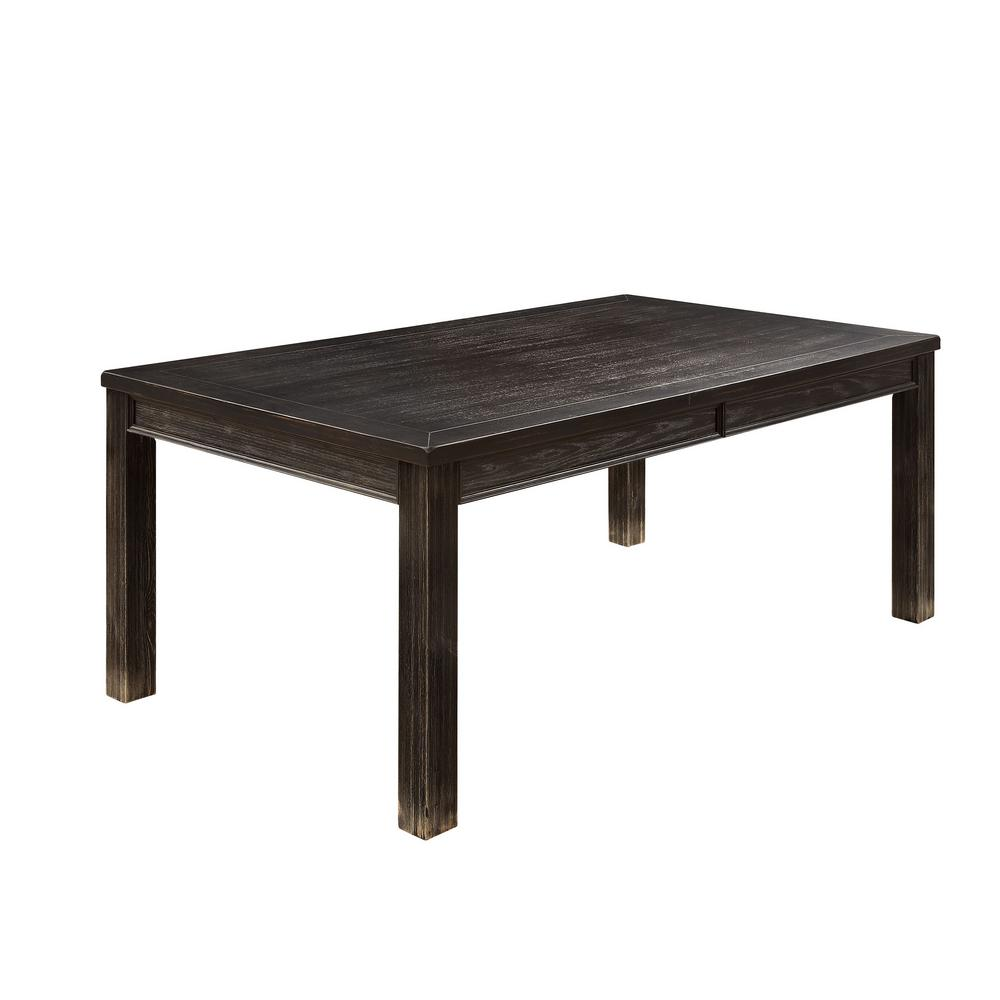 Sania I CM3324BK-T Contemporary Antique Black Finish Dining Table