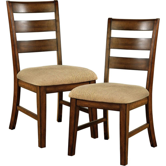 Furniture Of America Priscilla I Antique Oak Wood Finish 2 Piece Dining Side Chair