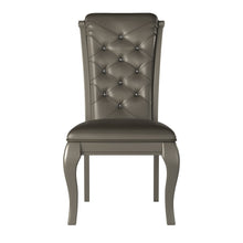 Load image into Gallery viewer, Homelegance Crawford Silver Wood Finish 2 Piece Dining Chair