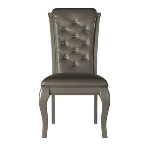 Homelegance Crawford Silver Wood Finish 2 Piece Dining Chair