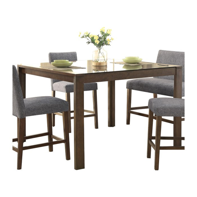 Homelegance Fielding Brown Wood Finish Counter Height Dining Table