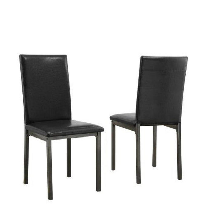 Garza Group Black Leatherette Side Chair