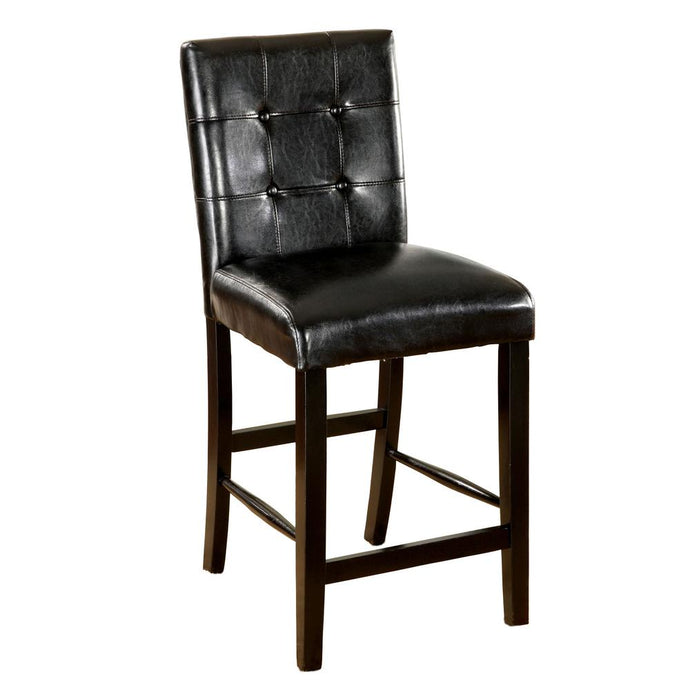 Bahamas Contemporary Counter Height Chair in Black Set of 2