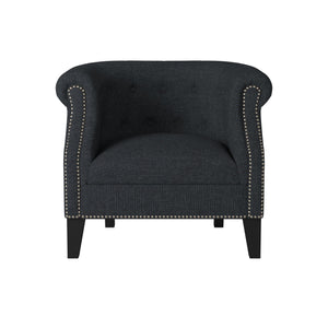 Homelegance Karlock Grey Polyester And Wood Finish Accent Chair