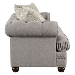 Acme 53096 Gardenia Gray Fabric Finish Loveseat