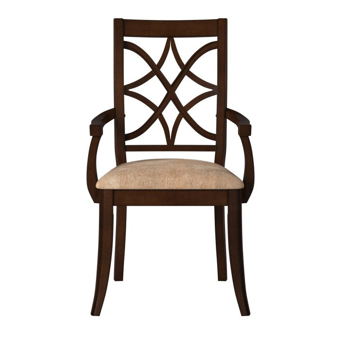 Homelegance Keegan Cherry Wood Finish 2 Piece Dining Arm Chair