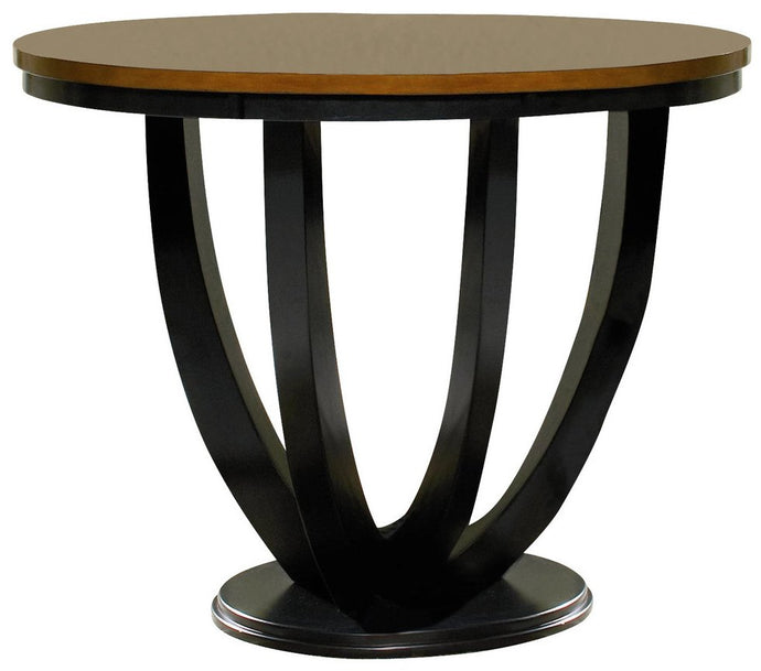 Boyer Round Amber Black Counter Height Dining Table