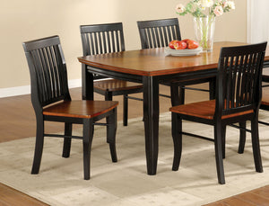 Furniture Of America Earlham Antique Oak and Black Wood Finish 5 Piece Dining Table Set