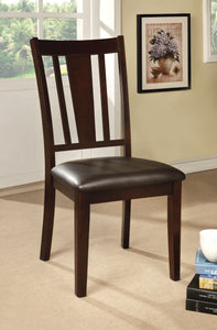 CM3325SC Bridgette I Leatherette Espresso Finish Dining Chair Set of 2