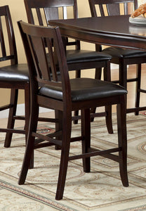Furniture Of America Edgewood II Espresso Wood Finish 2 Piece Counter Height Dining Chairs