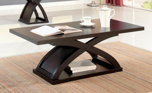 Furniture of America Arkley Espresso Wood Finish Coffee Table