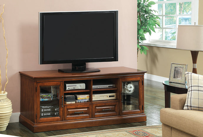 Alamanor CM5052-TV Transitional Antique Oak Finish TV Console