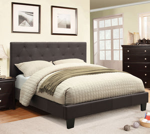 Leeroy CM7200LB-Q Contemporary Gray Padded Fabric Queen Platform Bed