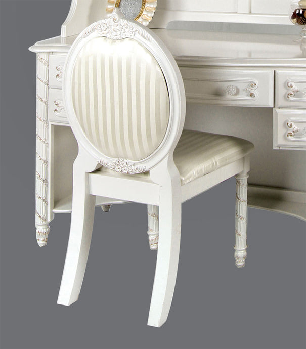 Alexandra CM7226CHAIR Transitional Pearl White Finish Chair