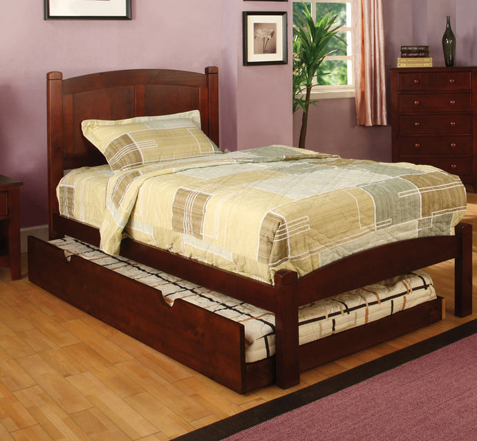 Cara CM7903CH-T Transitional Cherry Twin Trundle Platform Bed