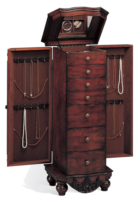 Coaster Traditional Style Cherry Jewelry Armoire