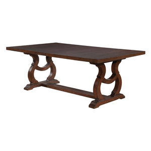 Homy Living Glen Cove Barley Brown Wood Finish Dining Table