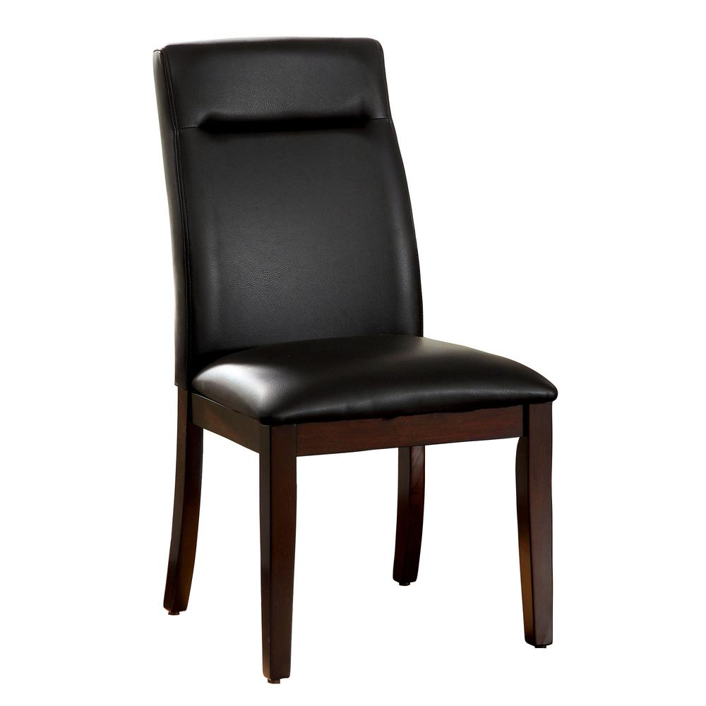 Furniture of America Lawrence Contemporary Dark Cherry Side Chair Set of 2