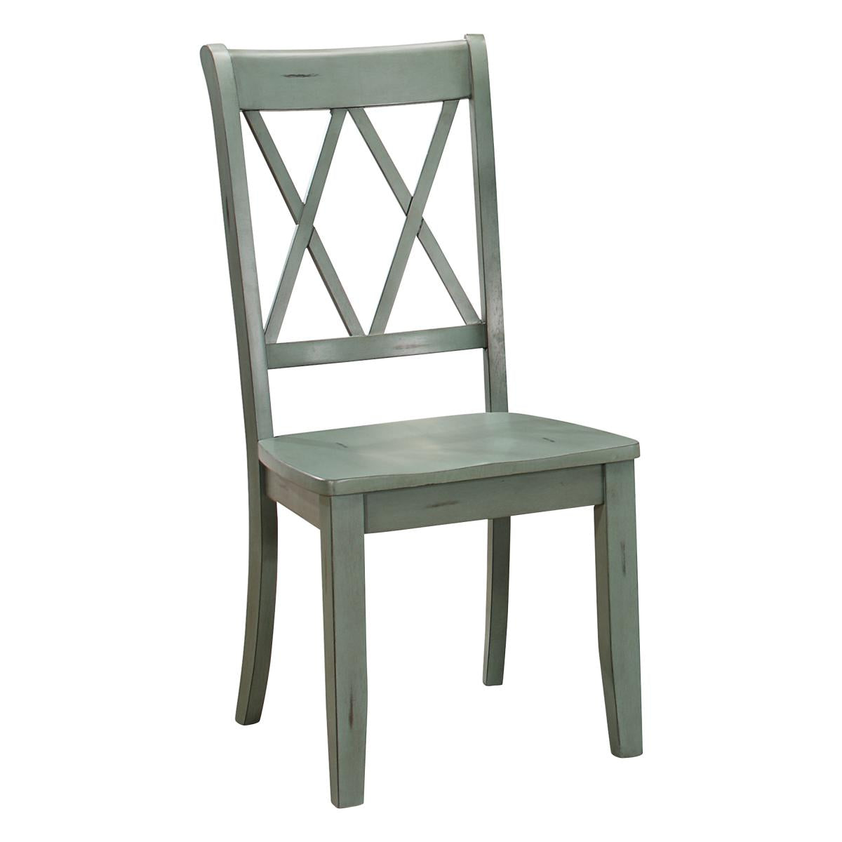 Homelegance Janina Teal Wood Finish 2 Piece Dining Chair