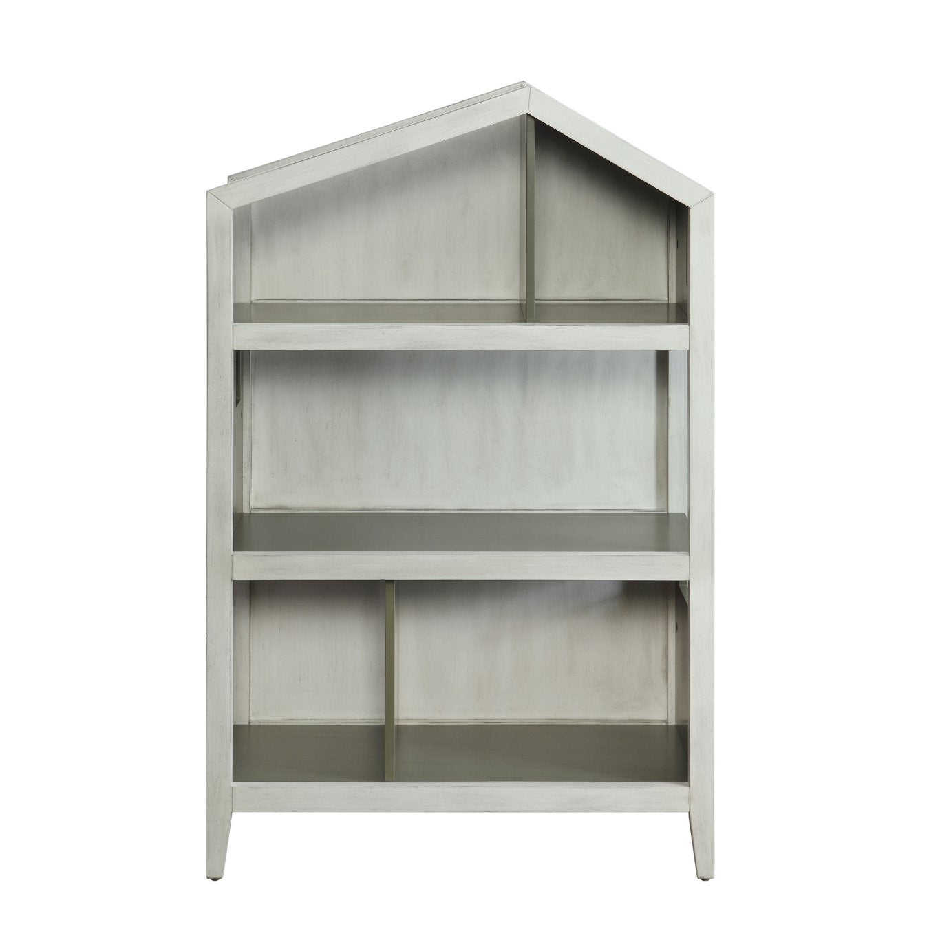 Acme 92561 Doll Cottage White Gray Wood Finish Kids Bookcase