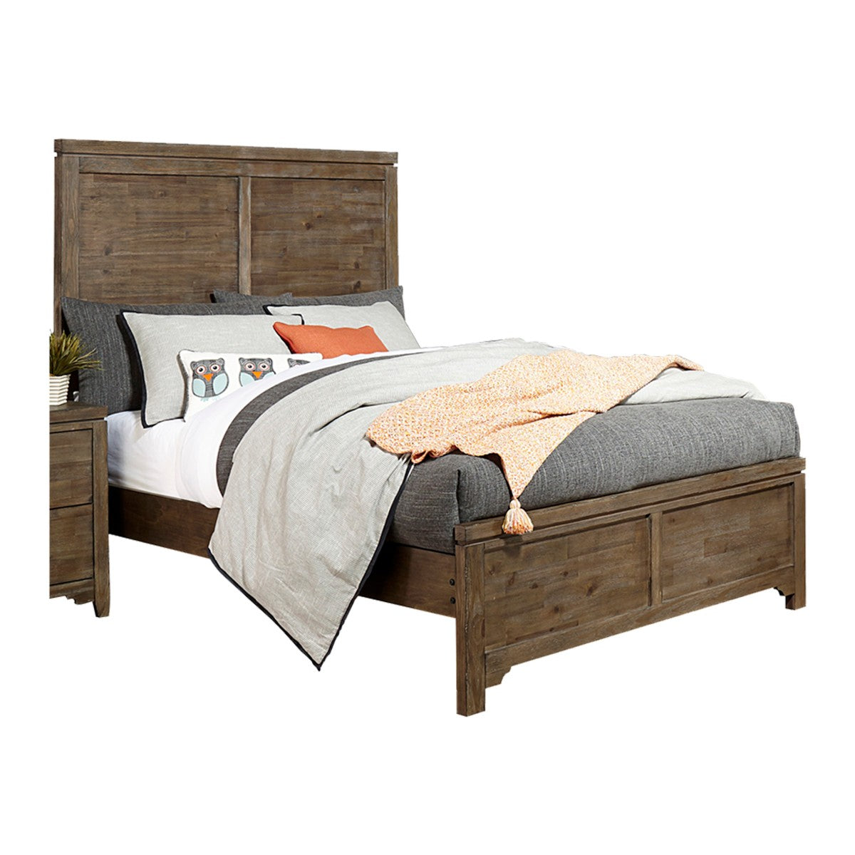Homelegance Lyer Brown Wood Finish Queen Bed