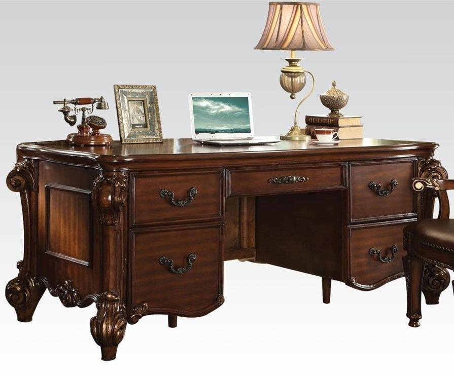 Acme 92125 Vendome Cherry Wood Finish Traditional Office Desk