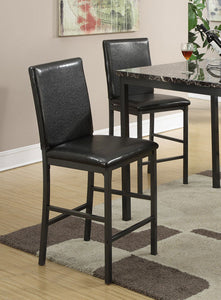 Poundexfaux Leather Upholstered High Dining Chair Set Of 2