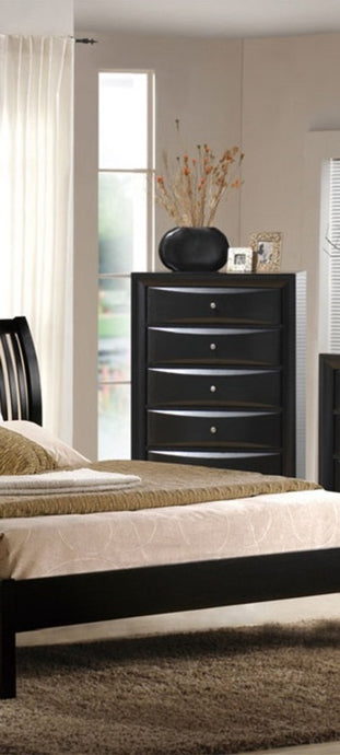 Poundex Black Drawer Chest