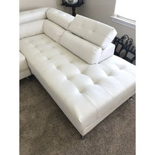 Load image into Gallery viewer, Poundex White Bonded Leather Sectional Sofa