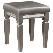 Load image into Gallery viewer, Homelegance Tamsin Silver Wood Finish Vanity Stool