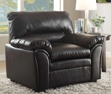 Load image into Gallery viewer, Homelegance Talon Black Bonded Leather Finish Chair