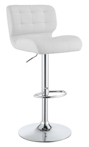 Coaster White Color Adjust Bar Stool Set of 2