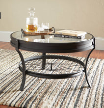 Load image into Gallery viewer, Coaster Sandy Black Glass Table Top Coffee Table