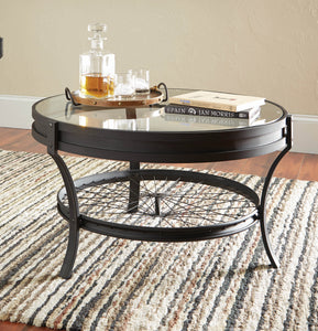 Coaster Sandy Black Glass Table Top Coffee Table