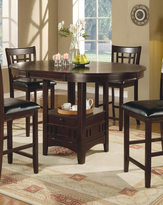Lavon Cappuccino Oval Counter Height Dining Table