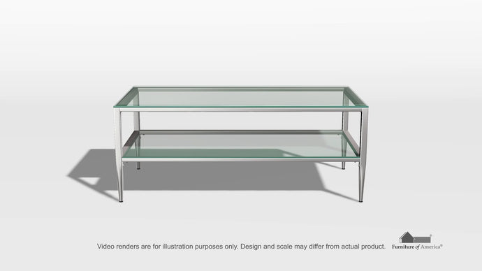Tanika CM4162CRM-C Contemporary Chrome Finish Metal Coffee Table