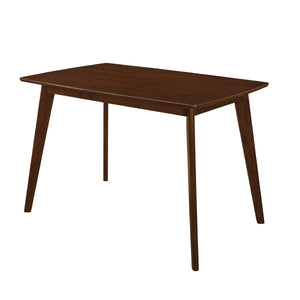 Homy Living Kersey Chestnut Finish Angled Legs Dining Table