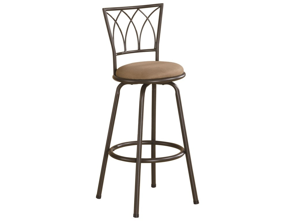 Coaster 29 Inch Upholstery Black Metal Bar Stool Set of 2