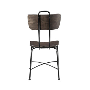 Acme 70737 Garron Oak Wood And Metal Finish 2 Piece Dining Chair