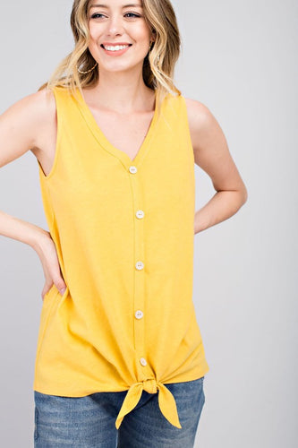 Raelynn button tank