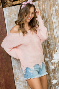 Tegan distressed sweater