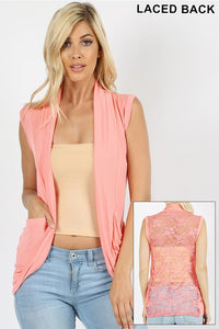 Heather lace vest