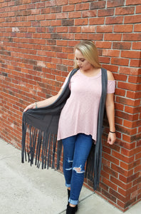 Fringe about it vest