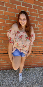 Kelsie off the shoulder floral top