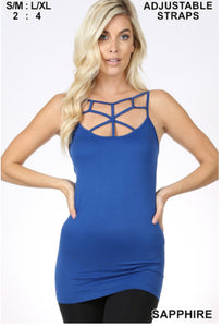 Criss cross layering tank