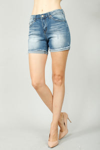 Bethany distressed kancan shorts