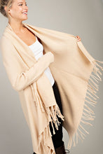 Fall for fringe kimono sweater