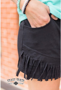 Black Betty fringe shorts