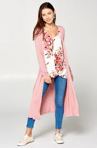 Sweet pea knit top and cardigan