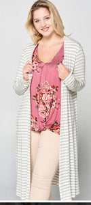 Sweet pea knit top and cardigan CURVY
